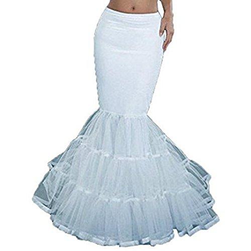 YOUAREFACNY Womens 3 Layers Mermaid Bridal Crinoline Petticoat Dress Underskirt Skirts