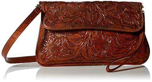 Mauzari Women's Hand Tooled Leather Crossbody Bag ()