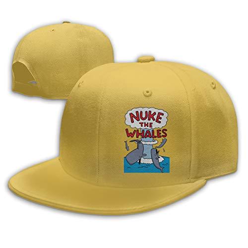 (ZIJUEFUI Nuke The Whales T-Shirt Baseball Cap Yellow)