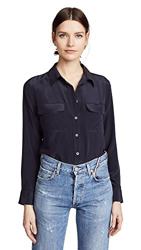 Equipment Women's Slim Signature Blouse, Eclipse, Small