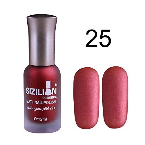 Opaco Zolimx Nail Opaca Lunga Unghie Smalto Veloce Smalto 12ml Chiodo Durata 25 Colori E 20 Art Opaco 77pxwqUr