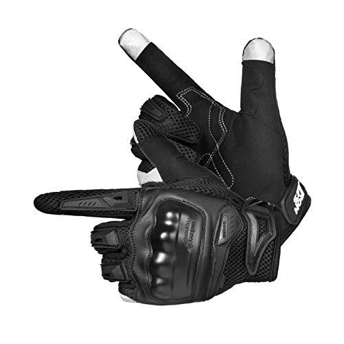 IRON JIA'S Motorradhandschuhe, Vollfinger-Touchscreen Handschuhe, Sommer Scooter Handschuhe für Motorradrennen, ATV…