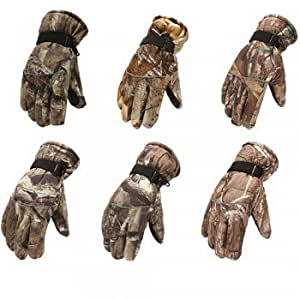Pair Warm Snow Skiing Gloves for Men