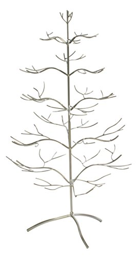 Red Co. Ornament Tree Christmas Décor/Jewelry and Accessory Display in Silver Finish - 36