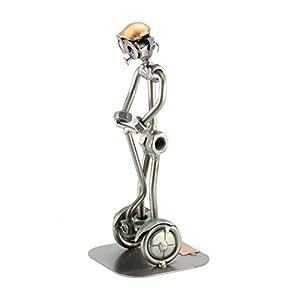Steelman24 I Omini di Viti Segway I Idee Regalo Originale I Soprammobili in Metallo I Modellino