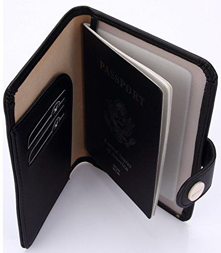 Zoppen Rfid Blocking Travel Passport Holder Cover Slim Id Card Case, #1 Black