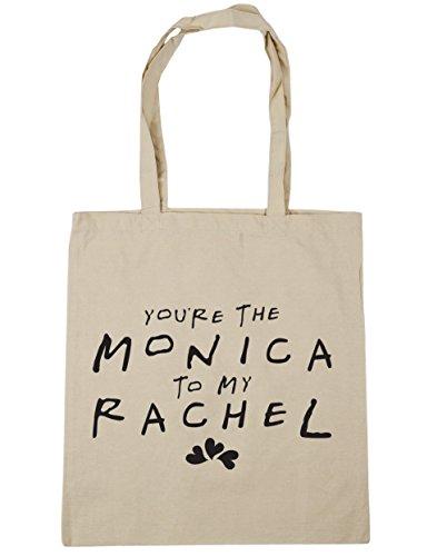 HippoWarehouse estás la Monica a mi Rachel bolsa de la compra bolsa de playa 42cm x38cm, 10litros Natural