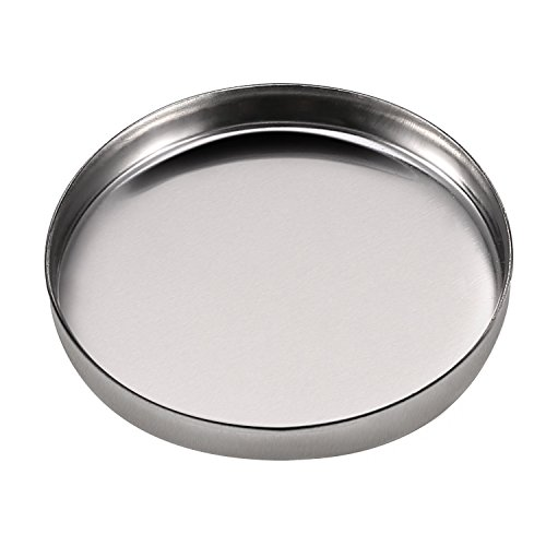 Pangda 50 Pack Empty Round Metal Tin Palette Pans Cosmetic Eyeshadow Blush Lipstick Organizer Size 26 mm for Magnets Cosmetic Palettes