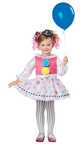 California Costumes Bubbles The Clown Costume, One Color, 4-6 -