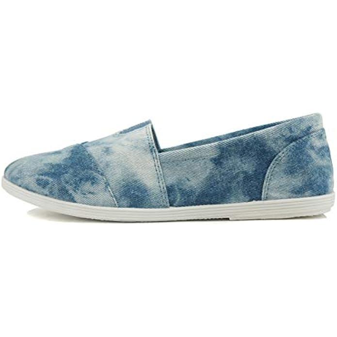 Soda Flat Women Shoes Linen Canvas Slip On Loafers Memory Foam Gel Insoles OBJI-S