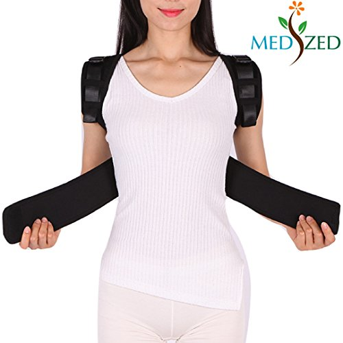 MEDIZED Posture Corrector Clavicle Support Brace, Medical Device to Improve Bad Posture, Thoracic Kyphosis, Shoulder Alignment, Upper Back Pain Relief for Men and Women (Style 1) by MEDIZED (Image #3)