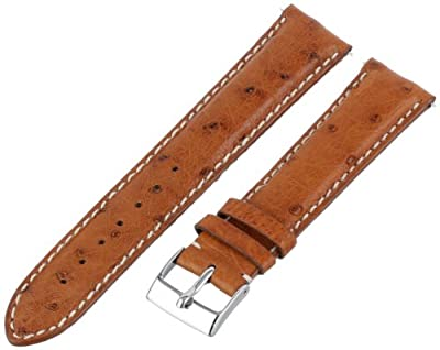Swiss Watch International 20 MM Cognac Genuine Ostrich Strap 20DA03C by Swiss Watch International