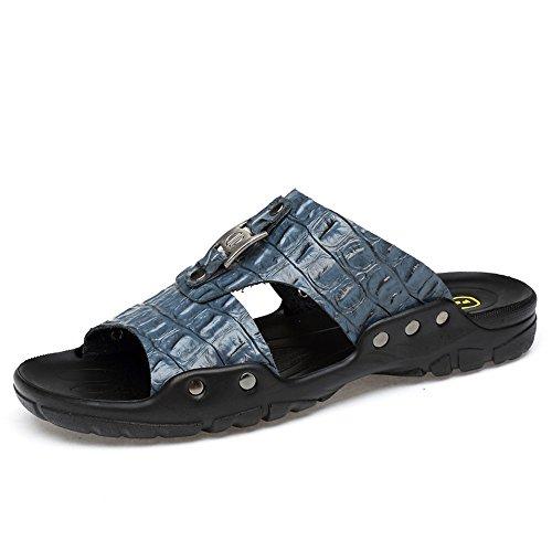 Pantofole Cricket Dimensioni e da Morbidi Blu di da Uomo Scarpe da Traspiranti Spiaggia Grandi Sandali FTrFxO