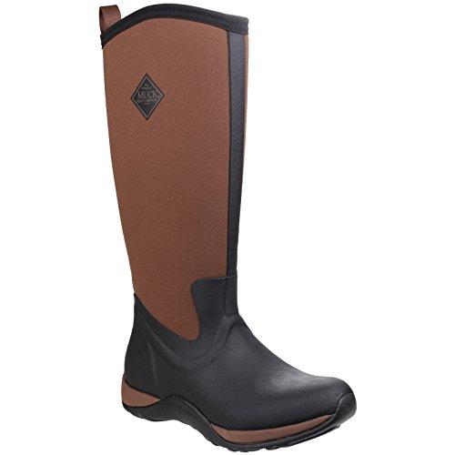 Muck Laars Unisex Arctisch Adventure Pull On Wellington Boots Black / Maroon