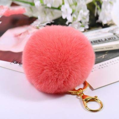 Amazon.com: Rarido Cheap 8CM Rabbit Fur Ball Puff Keychain ...