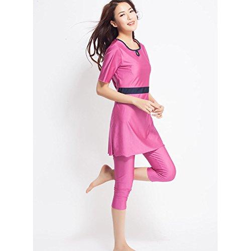 Free fisher Musulmán trajes de baño traje de natación swimwear ropa de playa femenino mujeres islámicas modelo nuevo conservado rosa