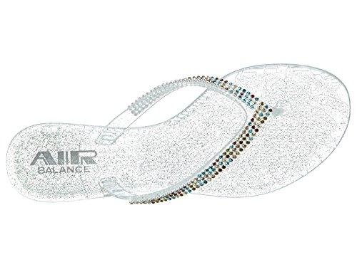 Air Balance V-thong Stones Jelly Sandals Mujeres Estilo: Abs412-wa510-coral Tamaño: 7 Coral