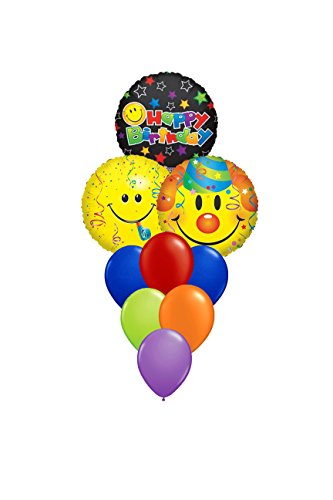Emoji Clown Birthday Party Balloons