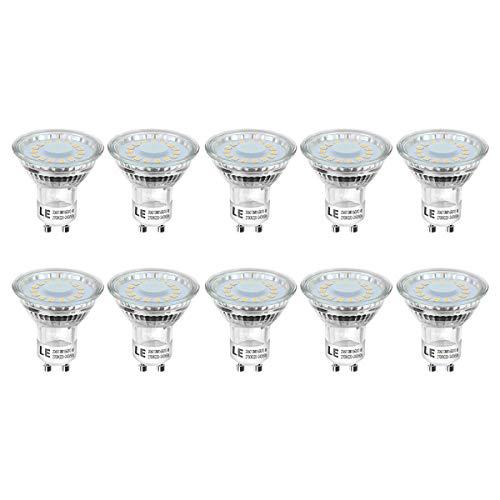 Lighting EVER  200060-WW-EU-10 LE GU10 LED Light Bulbs, 50W Halogen Bulbs...