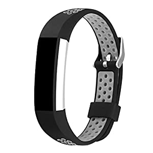 For Fitbit Alta Bands and Fitbit Alta HR Bands, Newest Soft Silicone Adjustable Sport Strap Replacement Bands for Fitbit Alta and Fitbit Alta HR Smartwatch Fitness Wristbands Grey