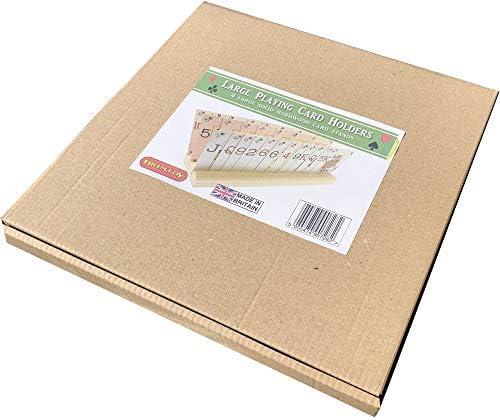 Brimtoy 4 Soportes Grandes de Madera para Cartas (50 cm) con Tarjetas de Juego.: Amazon.es: Juguetes y juegos
