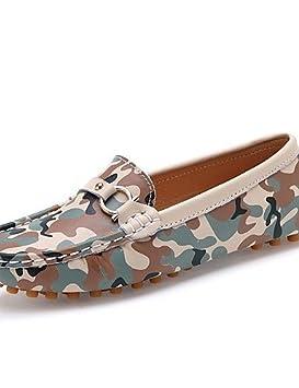 Zapatos de mujer - Tacón Plano - Comfort / Punta Redonda - Mocasines - Casual - Pelo de Ternero - Multicolor , multi ...