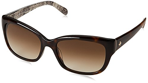 Kate Spade Women's Johanna Rectangular Sunglasses Tortoise 53 Mm