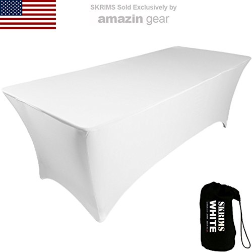 Amazin Gear SKRIMS PRO DJ Table Scrim Cover, 4' WHITE, used for sale  Delivered anywhere in USA