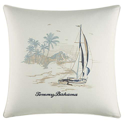 Tommy Bahama La Prisma Stripe Pillow, 20x20, Blue (Bahama Throw Tommy Pillows)