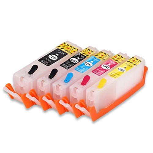 5 Colors PGI-270XL CLI-271XL Empty Refillable Ink Cartridge For MG5720 MG5721 MG5722 MG6820 MG6821 MG6822 Printer