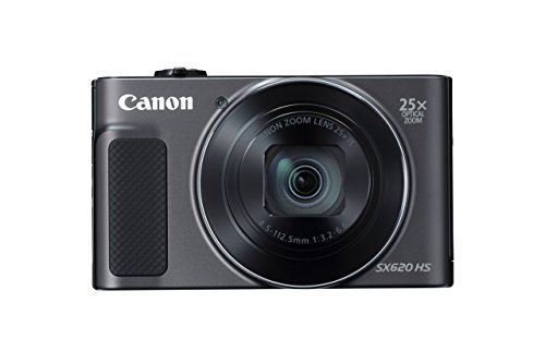 Canon PowerShot SX620 Digital Camera w/25x Optical Zoom – Wi-Fi & NFC Enabled (Black) (Certified Refurbished)
