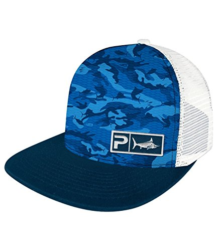Pelagic Camo - Pelagic Fish Camo Caps (One Size, Blue)
