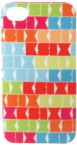 Ksix B0917FTP24-Tech Étui à rabat pour Apple iPhone 4/iPhone 4S (accéder facilement à l'appareil photo les branchements et les ports) Multicolore