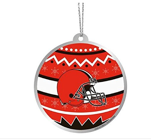 Cleveland Browns Official NFL Metal Ornate Ball (Ornate Ball)