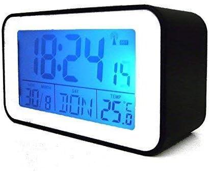 Reloj con Termómetro Despertador, Reloj Despertador en Negro (SN04491s): Amazon.es: Hogar