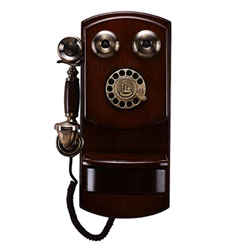 Antique European Retro Telephone - American Home Creative Telephone Wall-Mounted Vintage Mechanical Bell Rotary Dial from Telephone landline