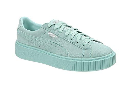 s Wn Reset Puma Celeste Suede Sneakers Platform Donna Verde q6TBA