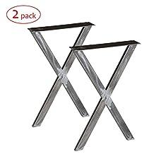 Rusty Design W5034BW2 Writing desk table X legs, 1 Pair