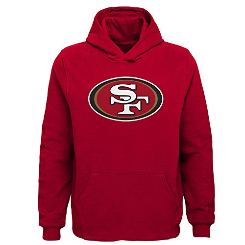 NFL San Francisco 49ers Toddler Primary Logo Sueded Classic Hoodie Red, (49ers Sweatshirts)