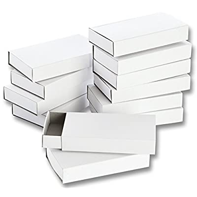 folia 2407 – Matchboxes – Blank Large, 12 Pack, White: Toys & Games