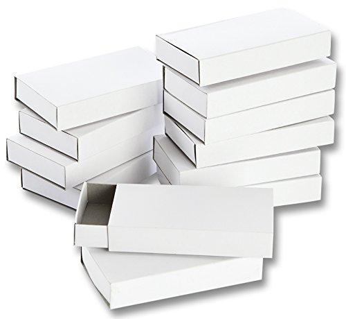 Folia 2407 - Streichholzschachteln, blanko, groß, 12-er Pack, weiß