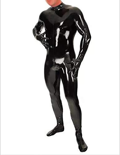 100% látex de traje para hombres con guantes, calcetines de ...