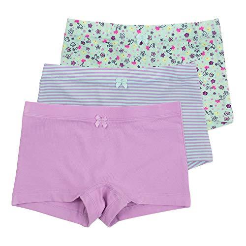 (Sophie Girls Shortie, Hybrid Underwear Short, Ideal for Skirts & Dresses, Encased Waistband, 3 Pack, Butterfly Swirl 6)