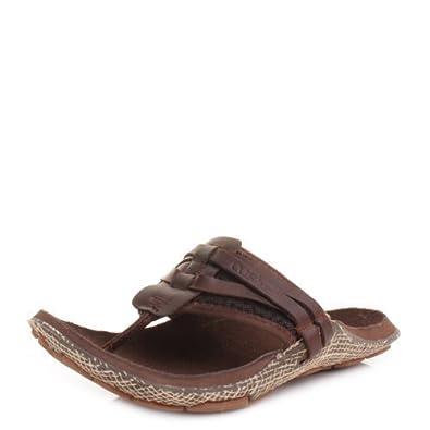 7201b524d5d Cushe Manuka Wrap Brown Leather Toe Post Sandals SIZE 11  Amazon.co.uk   Shoes   Bags