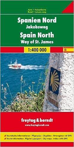 España Norte. Camino de Santiago 1:400.000 mapa de carreteras ...