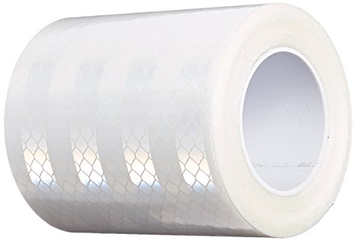 3M 3430 White Micro Prismatic Sheeting Reflective Tape - 3 in. x 15 ft. Durable Engineer Grade Tape Roll. Safety Tapes