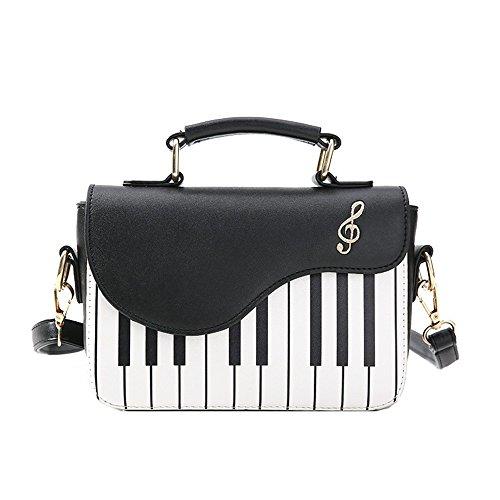 bolsos B hombro de Bag mujeres SSMENG piano A señoras de de llaves de hombro femenino Messenger de la Crossbody de las bordado Bolso pequeños las del Las del bolso cuero PU ffq1gC