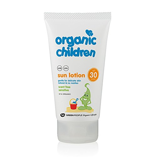 Green People Organic Children Sun Lotion SPF 25 'no scent' (150ml)
