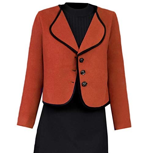 Howme-Women Single Breasted Trendy Slim Fall Winter Overcoat Outwear As Picture