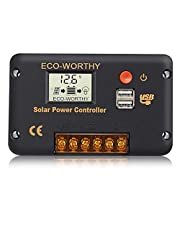 ECO-WORTHY 20A 30A 60A controller LCD-display dubbele uitgang